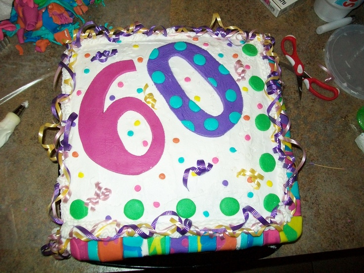 Cake Ideas Mom S Birthday : moms 60th birthday cake my cakes Pinterest