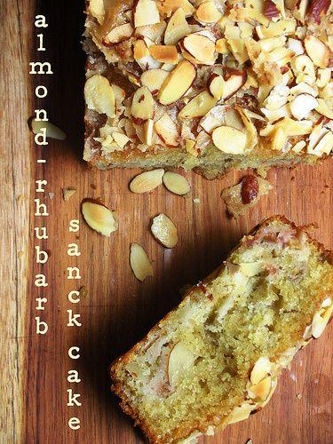 Almond-Rhubarb Snack Cake | Sweet Treats | Pinterest