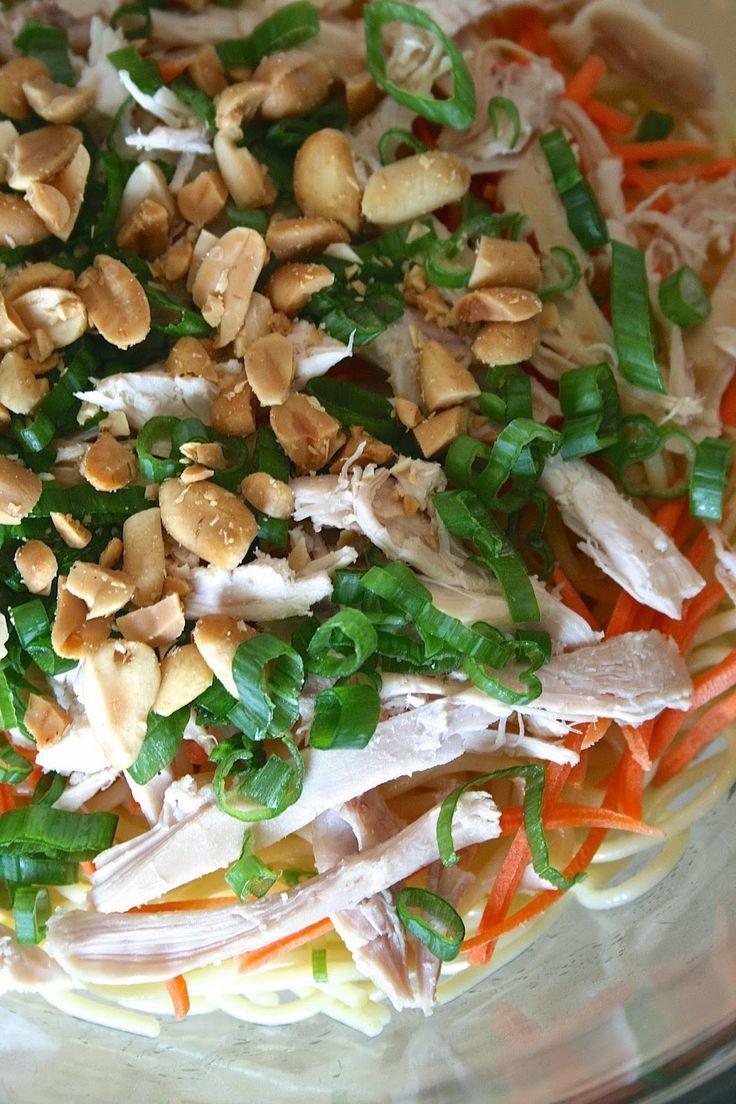 Spicy Thai Peanut Salad with Chicken    Oregon Transplant. Low carb ...