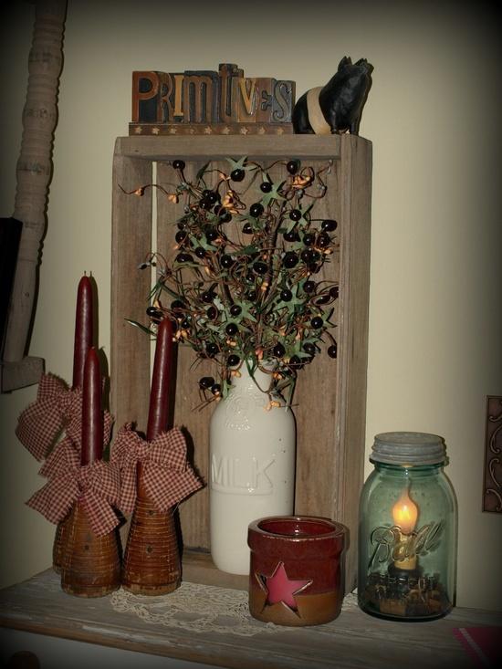 Primitive Decorating Ideas / primitive  Primitives & country look ...