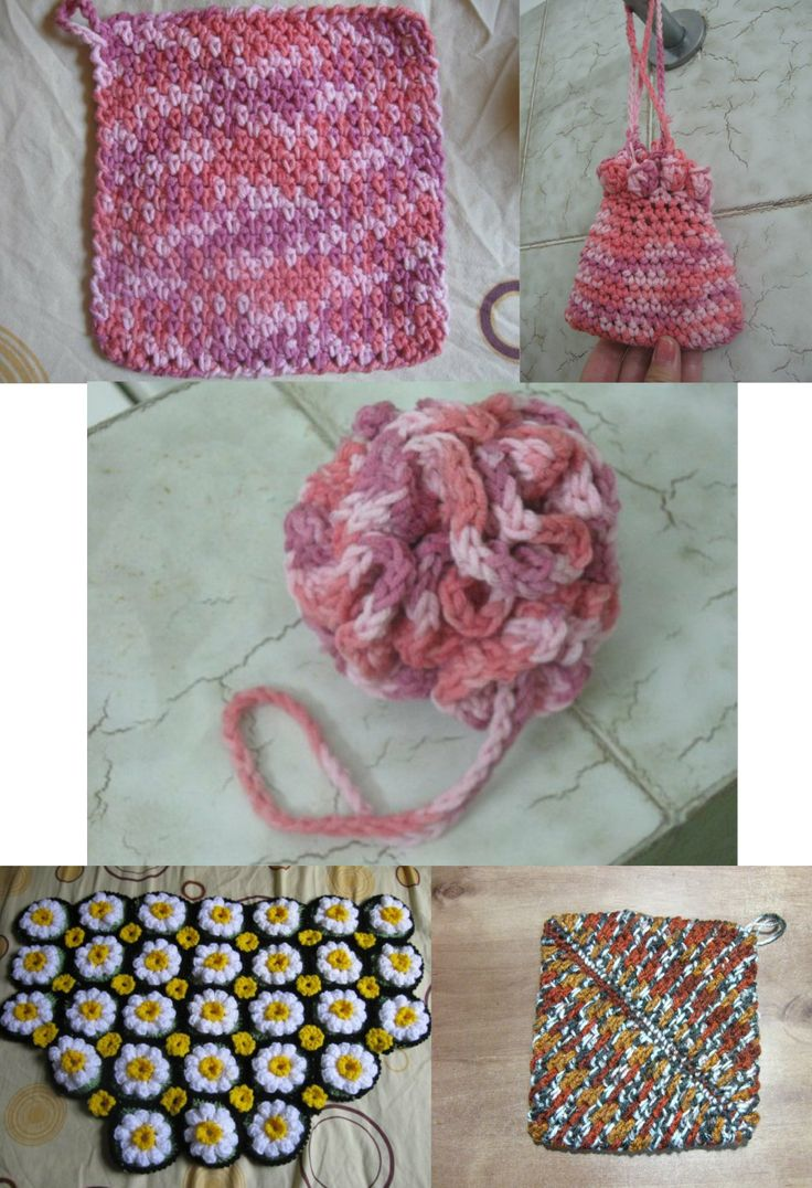 Crochet Stitches Meladora : Crochet Patterns for the Bathroom and House - Meladoras Creations