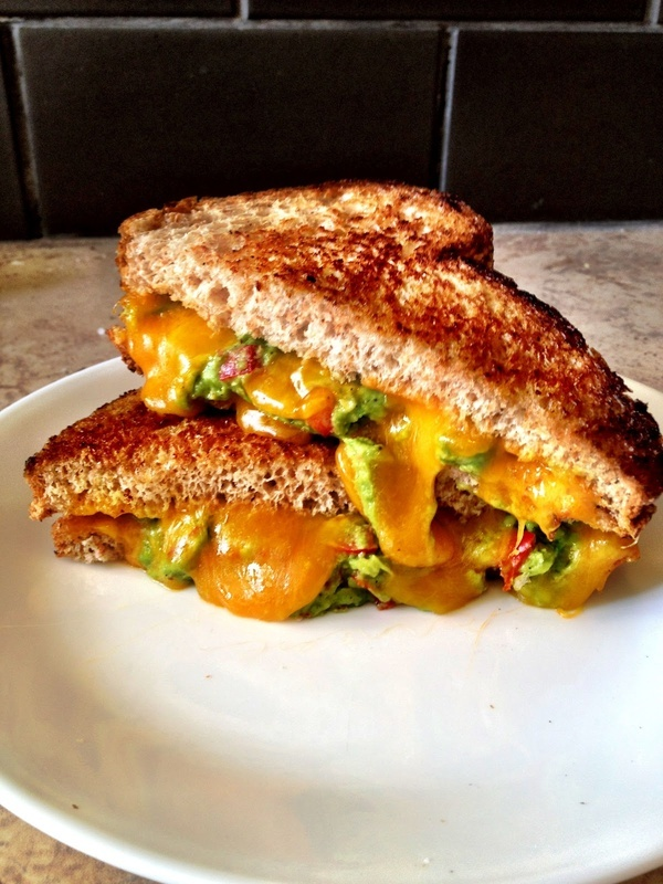 Grilled Two-Cheese Avocado Sammie Recipe — Dishmaps
