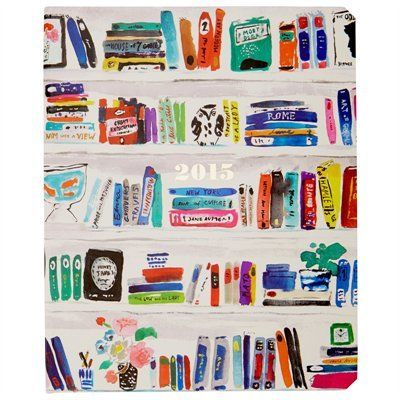 Kate spade 2015 bookshelf motif planner desktop dedication pinte