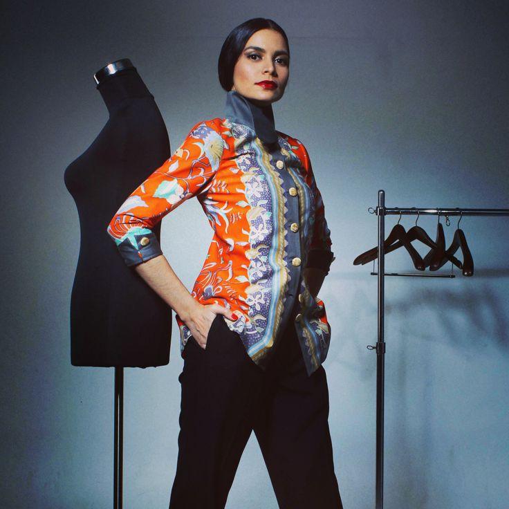 Batik handmade in Casual Blazer by Poula&Co LuwiSaluadji