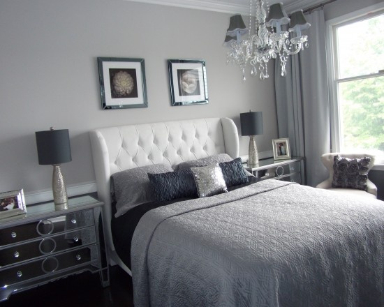 Hollywood Glamour Style Bedroom WANT Home Decor Pinterest