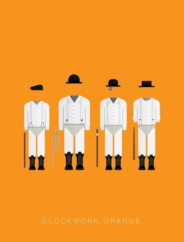 Disfraz naranja mecánica