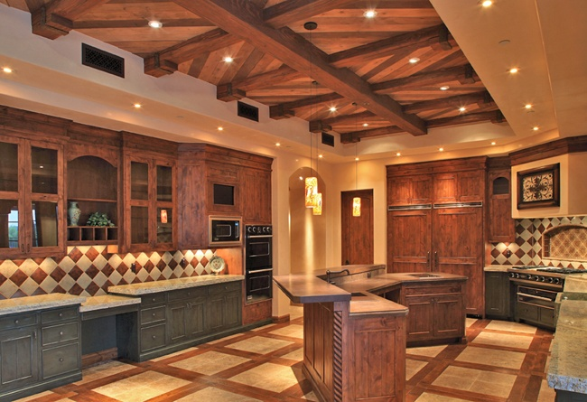 Ceiling and floor french country kitchen ideas pinterest