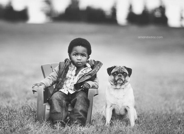 #boy #portrait #dog #bw