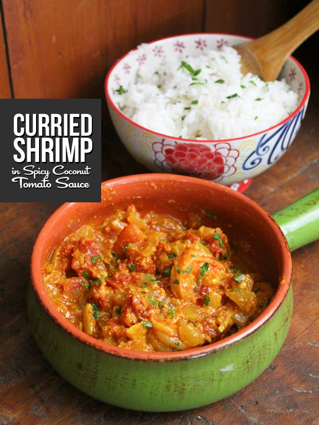 Curried Shrimp in Spicy Coconut Tomato Sauce