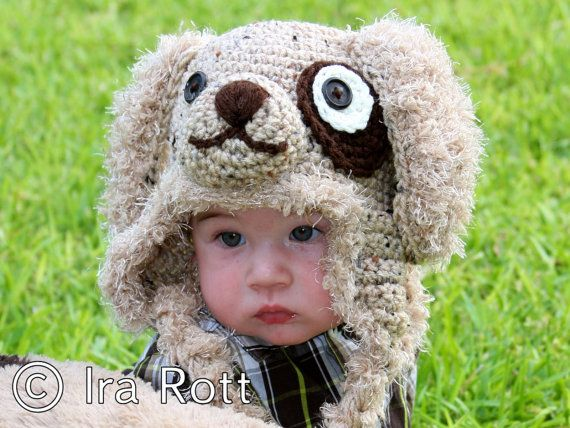 puppy hat Crocheted animal hats Pinterest