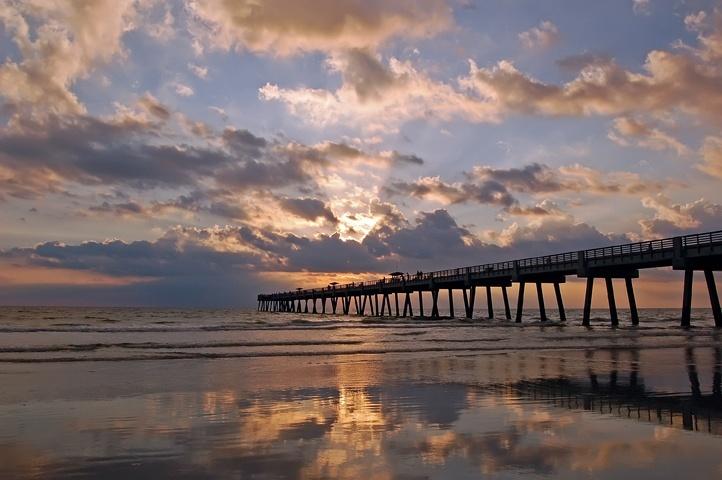Jacksonville Beach Fl New Pier The Sea Pinterest