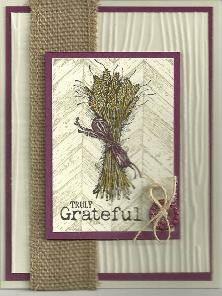 Stamps truly grateful paper ivory rich razzleberry ink early