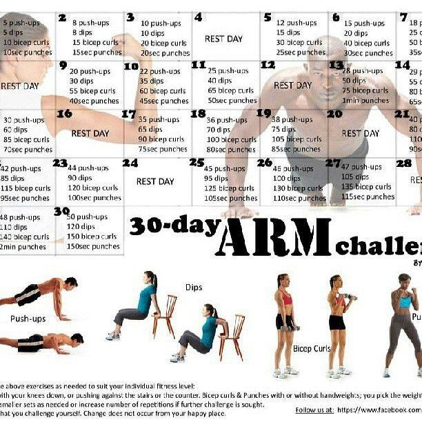 Arm challenge | Fitness Finds | Pinterest