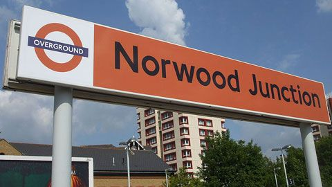 London Overground Norwood Junction station sign