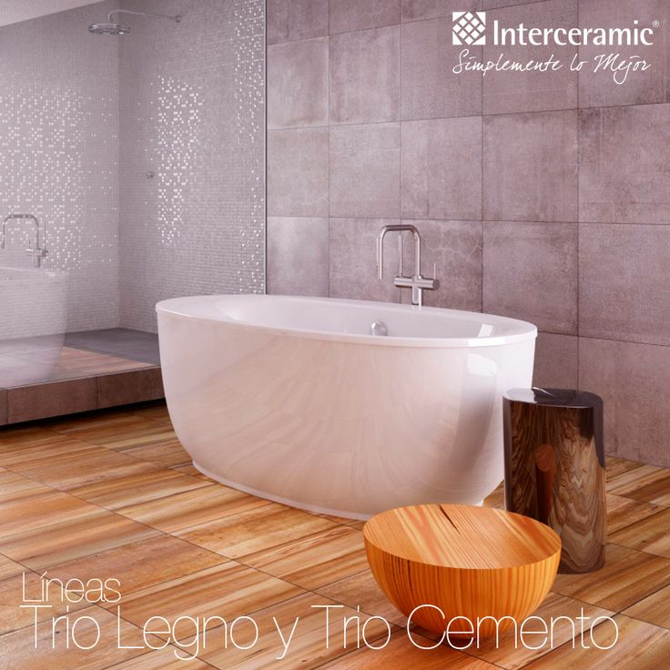 Tinas De Bau00f1o Interceramic:Trio Legno Interceramic