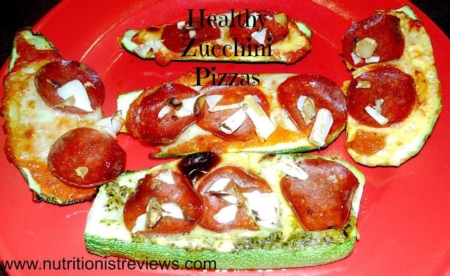 Skinny Zucchini Pesto Pizzas | yum! | Pinterest