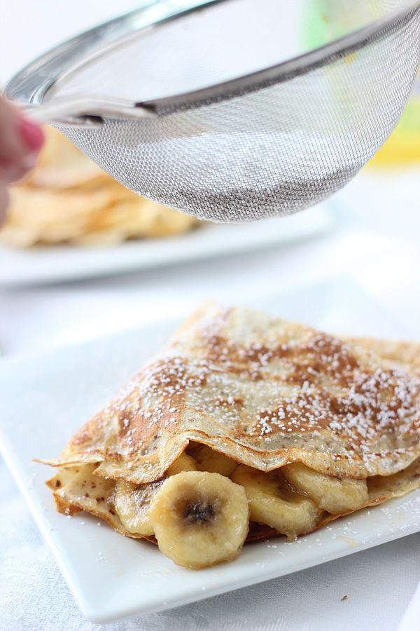 Skinny Bananas Foster Crepes ~ Super easy and made with I Can't ...