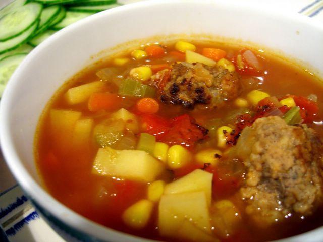 Albondigas Soup « Baking Bites | Eats - Recipes to Try | Pinterest