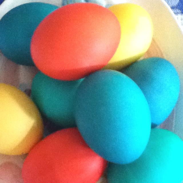 Dyed Easter eggs | Easter | Pinterest