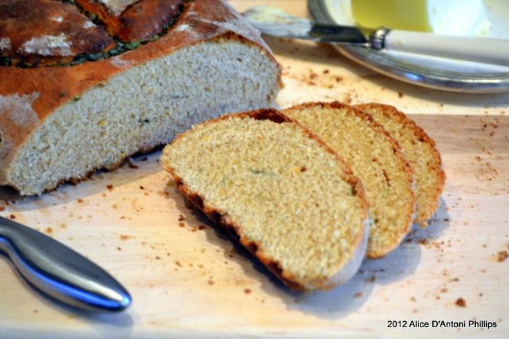 "Meyer Lemon & Mint Peace Peasant Bread"" www.allyskitchen.com"