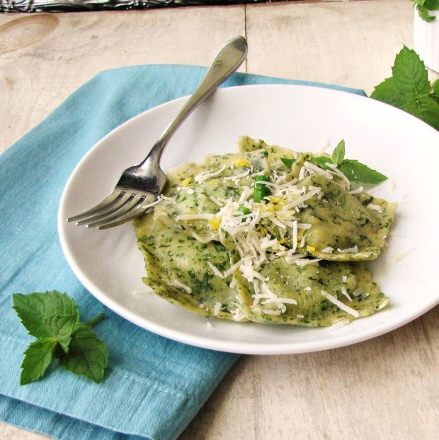 Paccheri And Cheese With Peas And Mint Recipe — Dishmaps