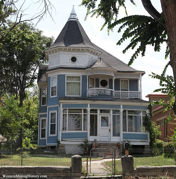 Blue Victorian White Trim Dream House Pinterest