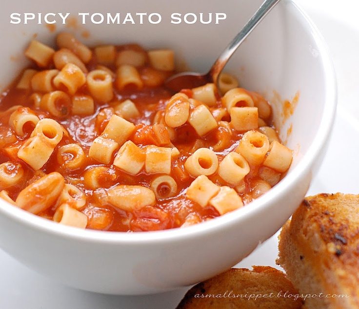 Spicy Tomato Soup (MW- made in 2/12, so good and a great recipe to ...