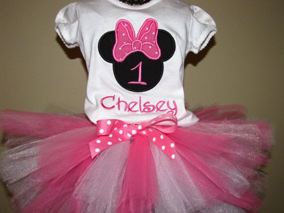 Minnie mouse 1st birthday tutu outfit by allthingsgirlshop on etsy
