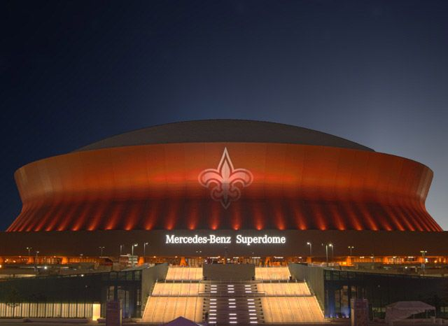 mercedes benz superdome new orleans la stadiums pinterest