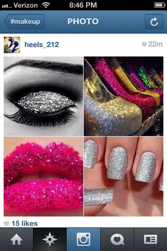 Glitter is my best friend | Nails, Hair, and Make-Up | Pinterest