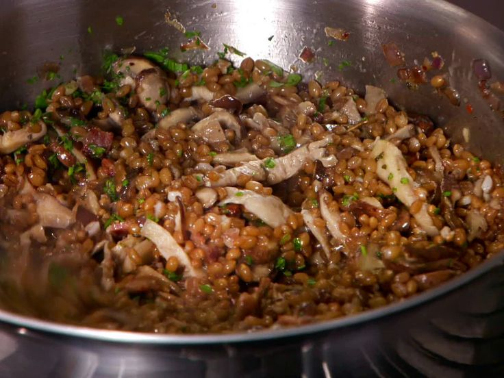 Warm Wheat Berry and Mushroom Salad from FoodNetwork.com - I don't ...