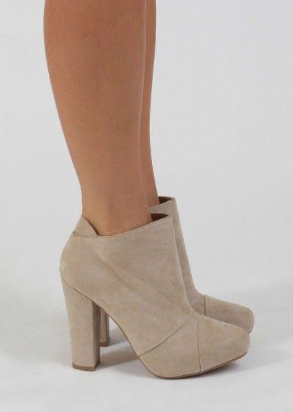 chunky heel bootie fashion pinterest