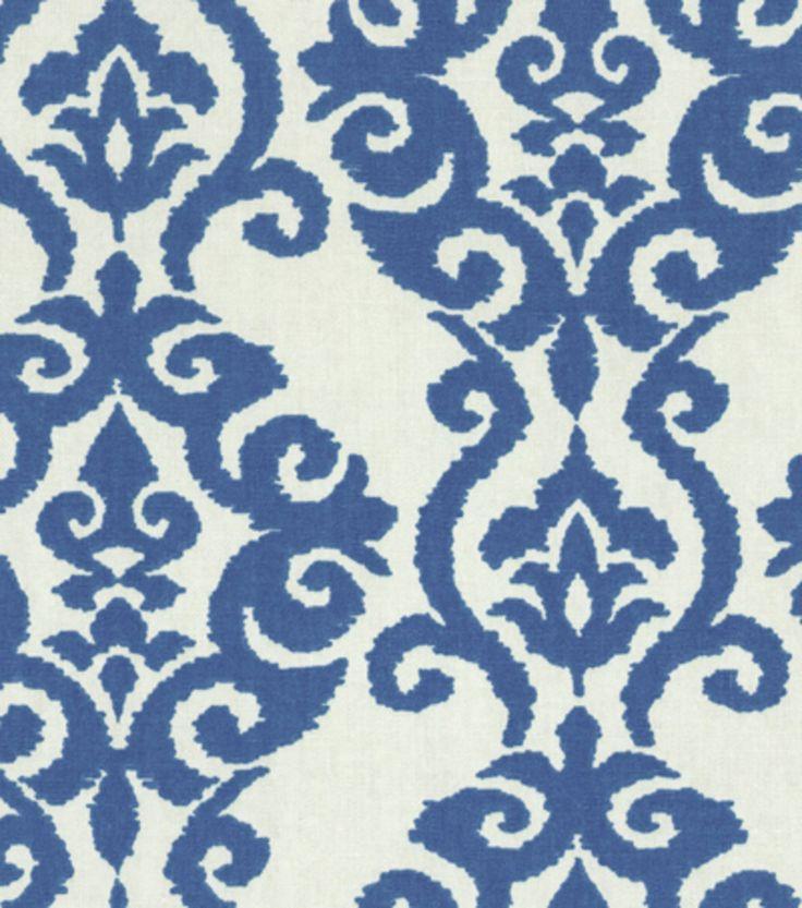 Home Decor Print Fabric-Waverly Luminary Indigo $12.00