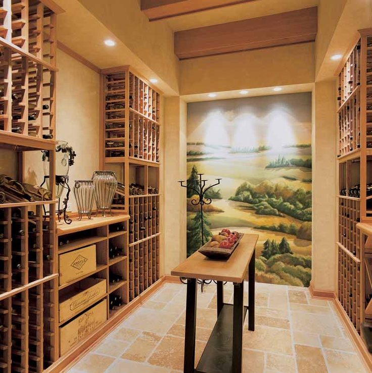 Wine Room Mural Wall Architecture Pinterest