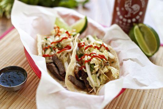 Kogi-inspired Korean BBQ Taco Recipe | Meats | Pinterest