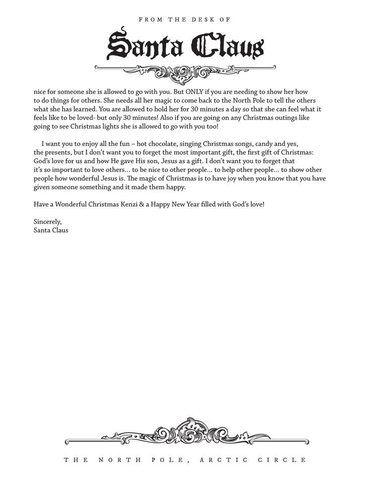 Printable Letters From Santa/page/2 | Search Results | Calendar 2015