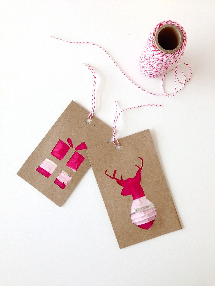 DIY fringed gift tags