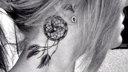 13 fotos de tatuagens de filtros de sonhos - Parte 1