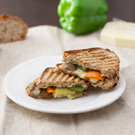 Mozzarella Pesto Melt packed full of California cheese and a whole ...