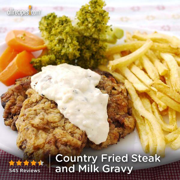 "Fried Steak and Milk Gravy | ""Finally! I've always loved country fri..."
