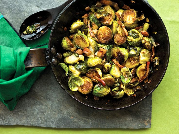 Roasted Brussels sprouts & bacon. WOW! What a sublime way to eat the ...
