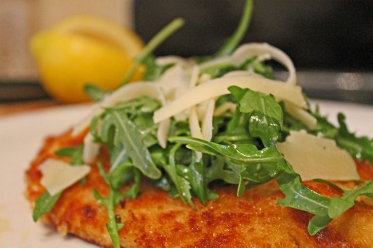 Crispy Chicken with Arugula and Parmesan | Chickant | Pinterest