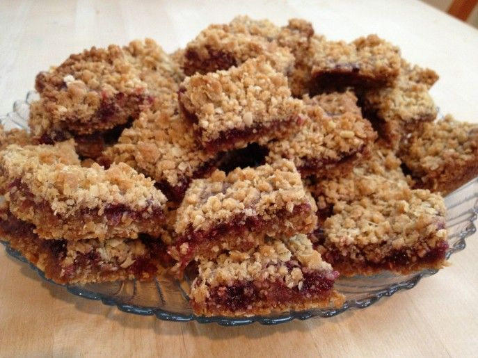 raspberry oatmeal bars | Sweets | Pinterest