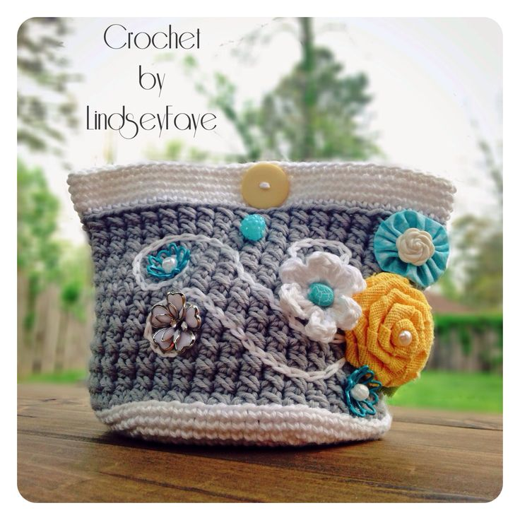 Crochet Bag Making : Crochet make-up bag crochet - BAGS and PURSES Pinterest