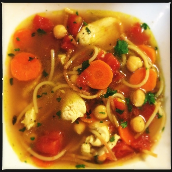 homemade chickpea chicken noodle soup   Food   Pinterest