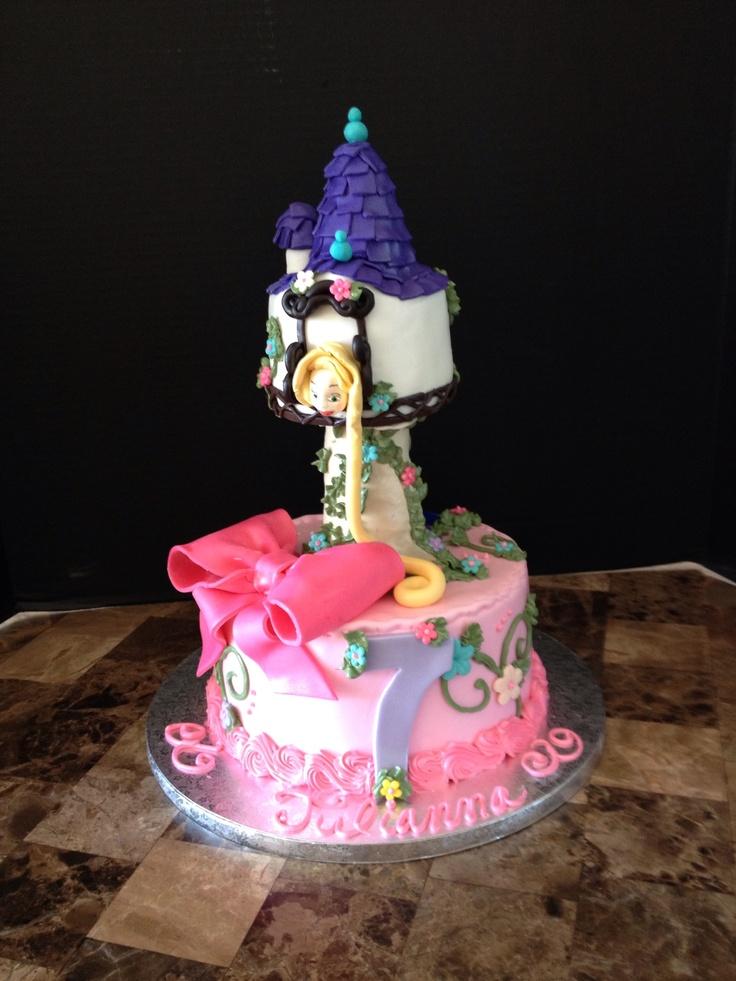 Cake Designs For 7th Birthday Boy : Rapunzel 7th birthday cake. Girl Cakes Pinterest