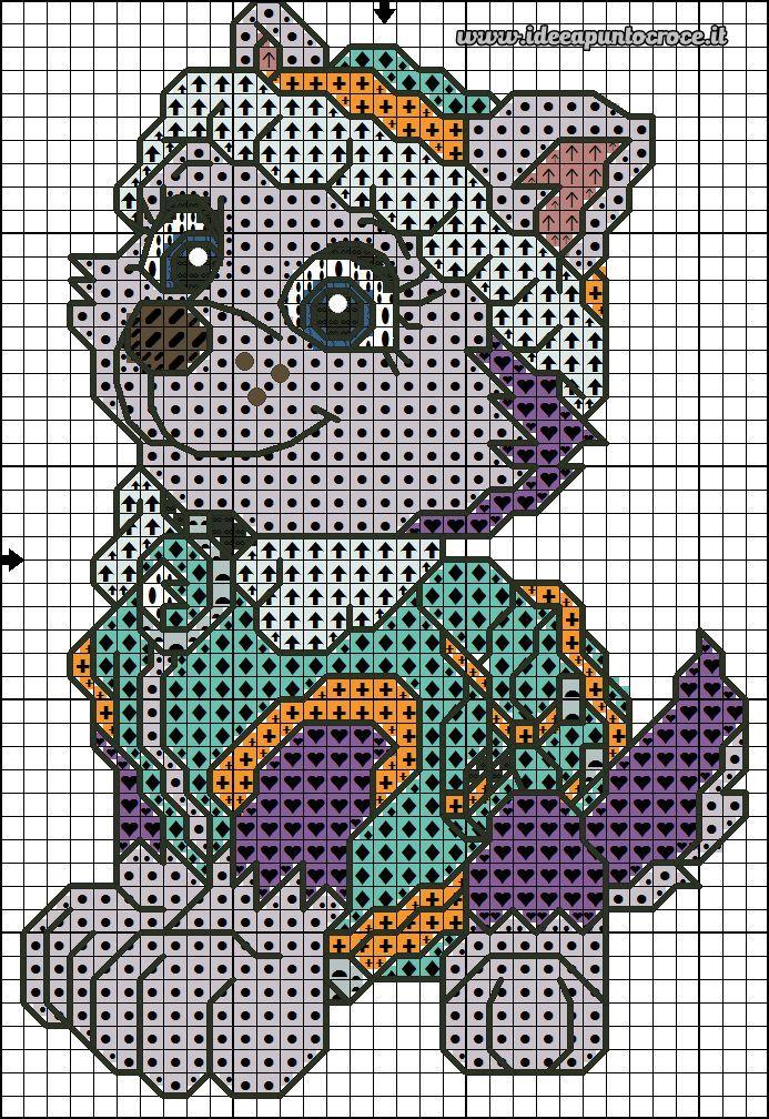 Схемы вышивки крестом щенячий патруль 3