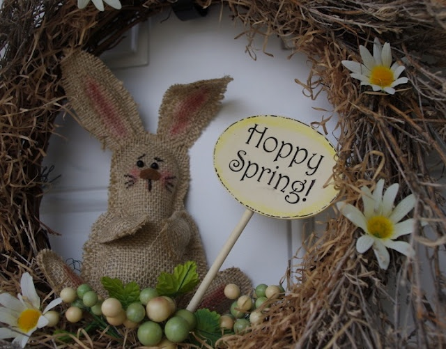 Burlap Bunny with Pattern