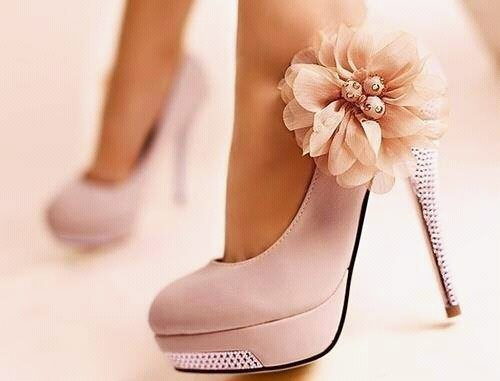 pretty in pink heels shoes and bling