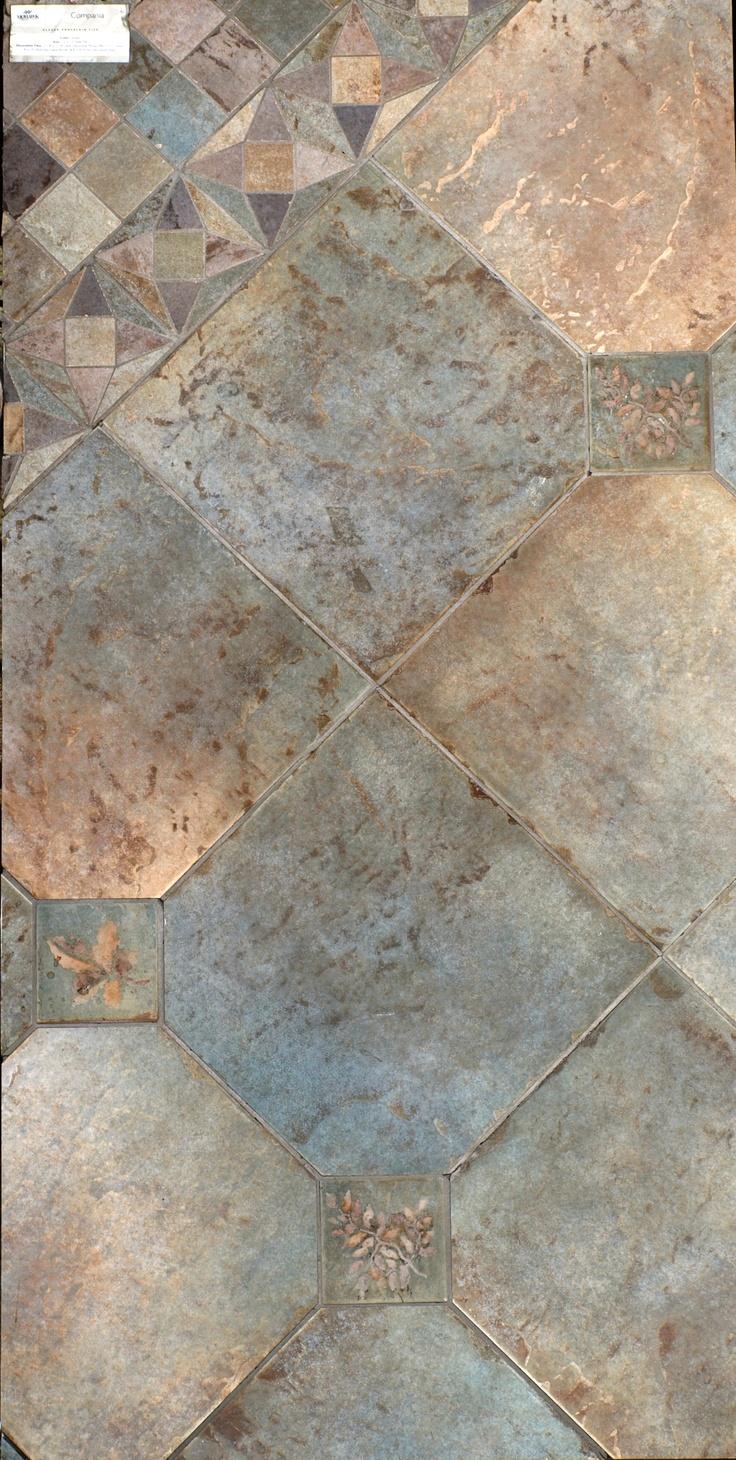 Ceramic Floor Inlays : Ceramic tile floor inlay sample kitchen